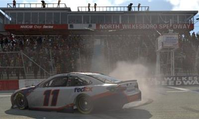 Denny Hamlin Drives it Home in North Wilkesboro