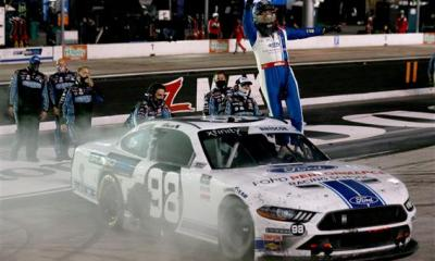 Chase Briscoe Takes Regular Season Finale at Bristol