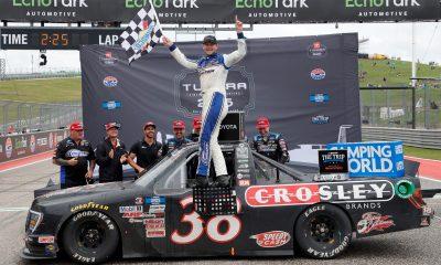 Todd Gilliland Wins Inaugural Truck Race at COTA