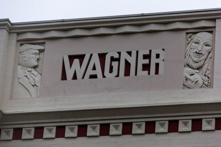 "stone monument with the words ""wagner"" across it"