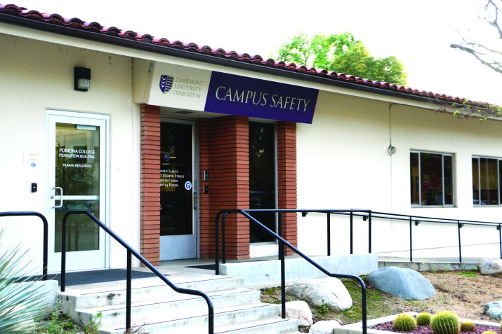 The outside of the Claremont College's Campus Safety building