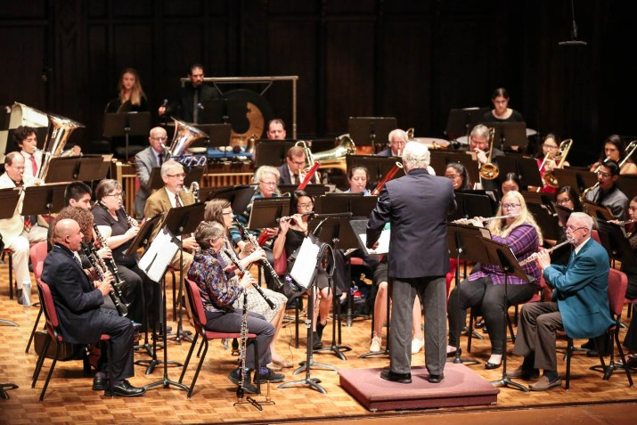A band performs on a stage