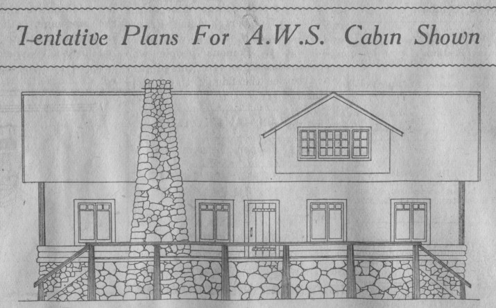 Tentative Plans for A.W.S. Cabin Shown – Oct. 23, 1930