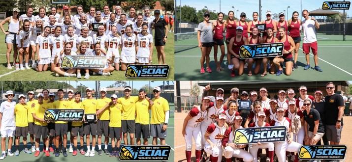 Four photos of sports teams