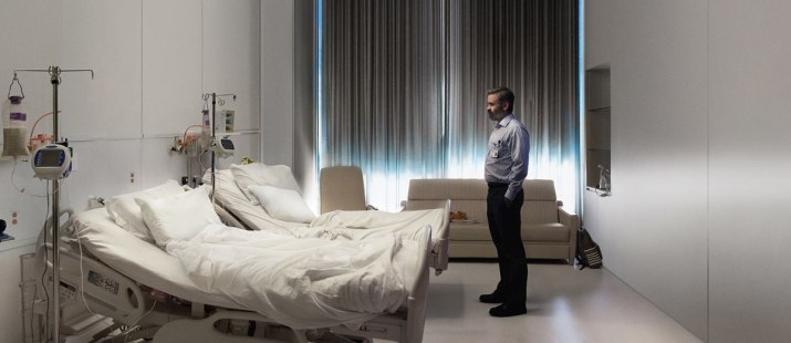 A man in a hospital room