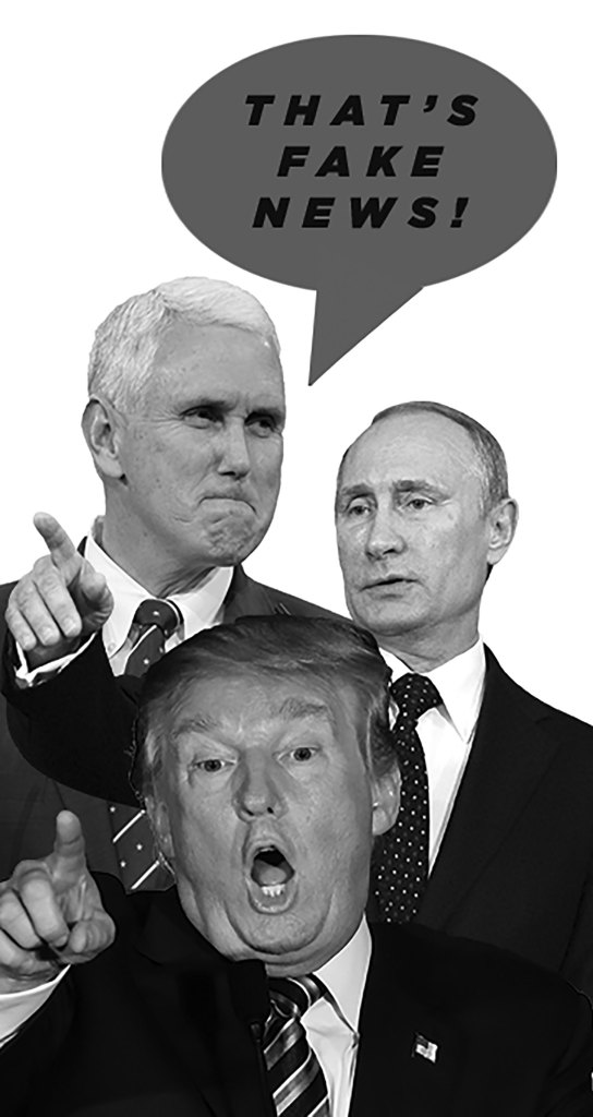 President Donald Trump, Mike Pence and Russian leader Vladimir Putin
