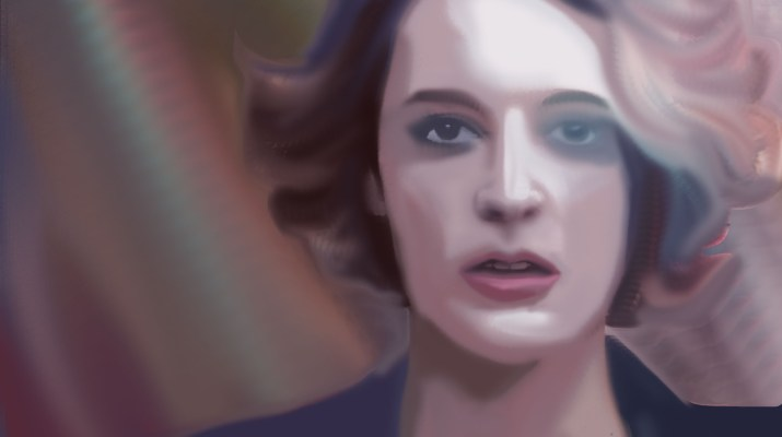 "A blurred depiction of Phoebe Waller-Bridge in the show ""Fleabag"""