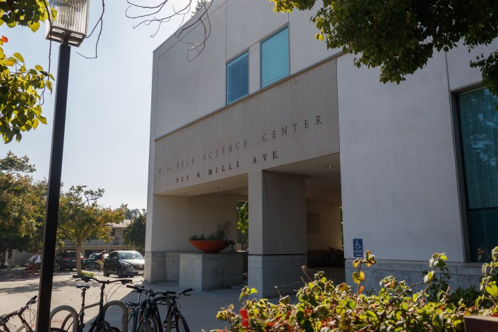 The front of Keck Science Building