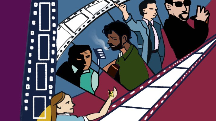 5 characters from various movies are featured across a film strip.