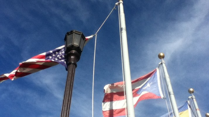 U.S. Puerto Rico and Hatillo flags