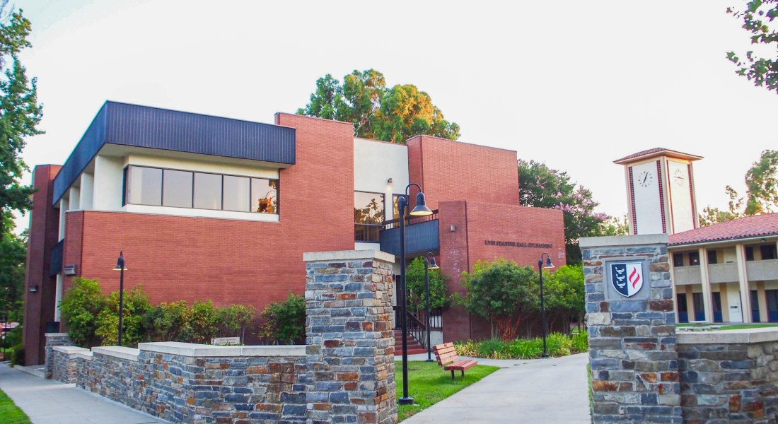 A photo of Claremont Graduate University in the day time.