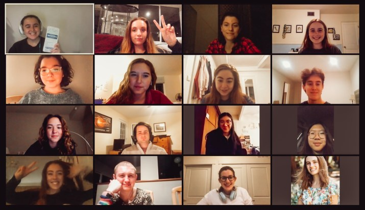 A screenshot of a group Zoom meeting.