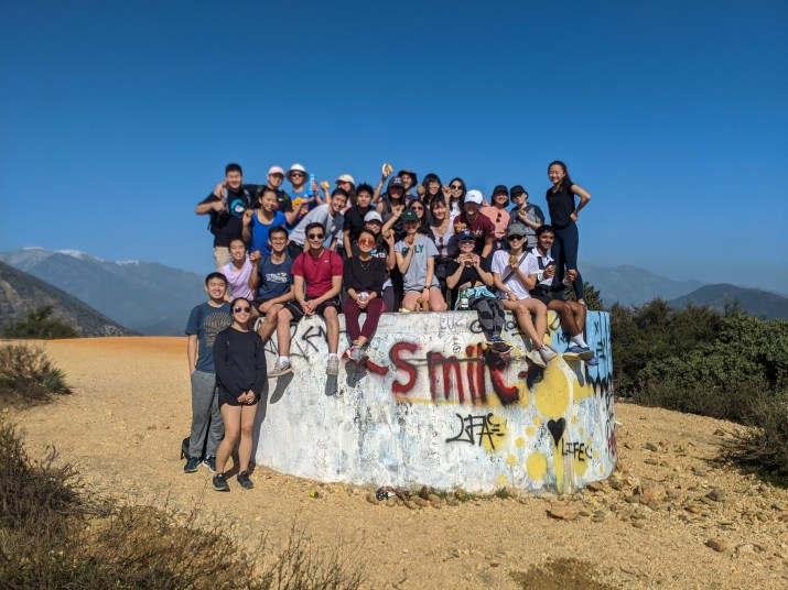 Mentors and mentees of the Asian Pacific American Mentor program on a hike