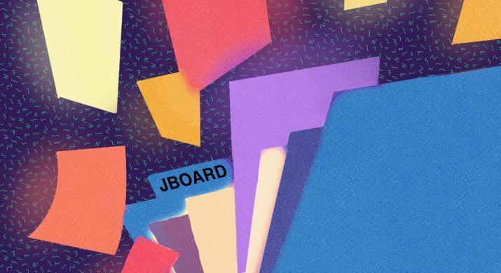 "An open folder titled ""JBOARD"" with files inside"