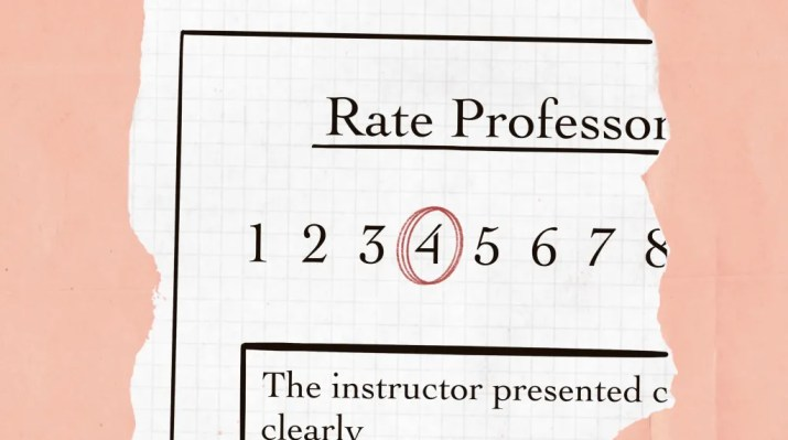 An evaluation for a professor