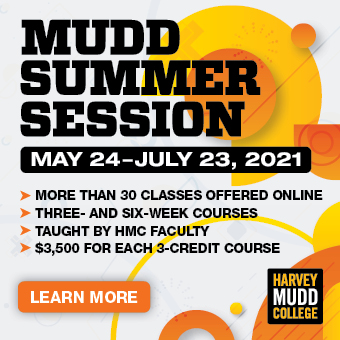 MUDD SUMMER SESSION: May 25-July 23, 2021