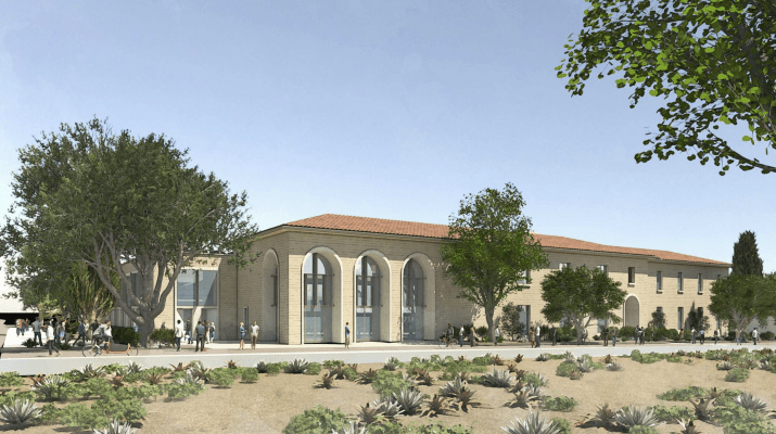 A mock-up of the new Oldenborg Center plans