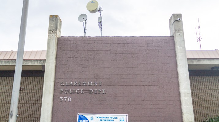 The outside of the Claremont Police Department.