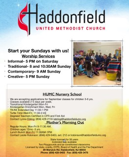 Flyer and Print Ad for Nursery School