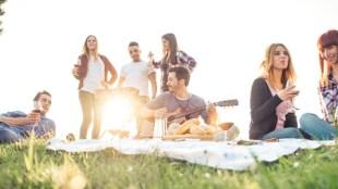 friends-park-guitar-blanket-picnic