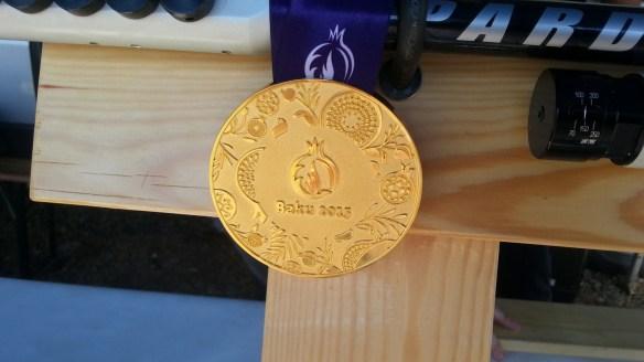 C.Italiani 2015 - medaglia d'oro di Campriani in esposizione