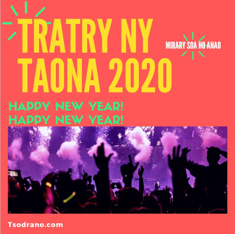 tsodrano bonne annee 2020