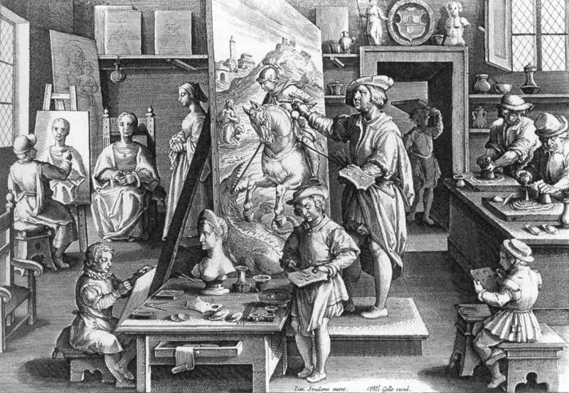 La Bottega del Pittore Giovanni Stradano, Renaissance Workshop Art Studio