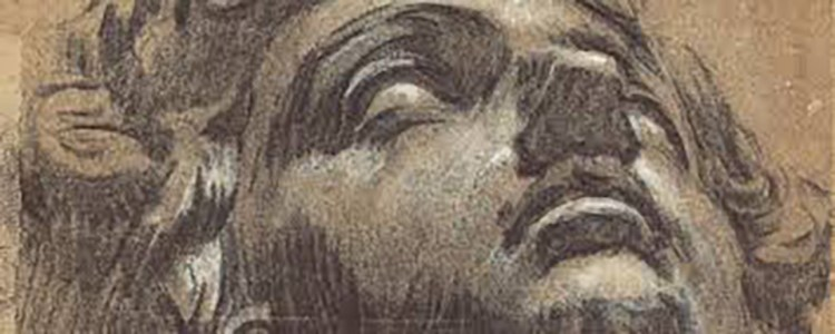 Tintoretto, sketch of the head of Giuliano de Medici by Michelangelo