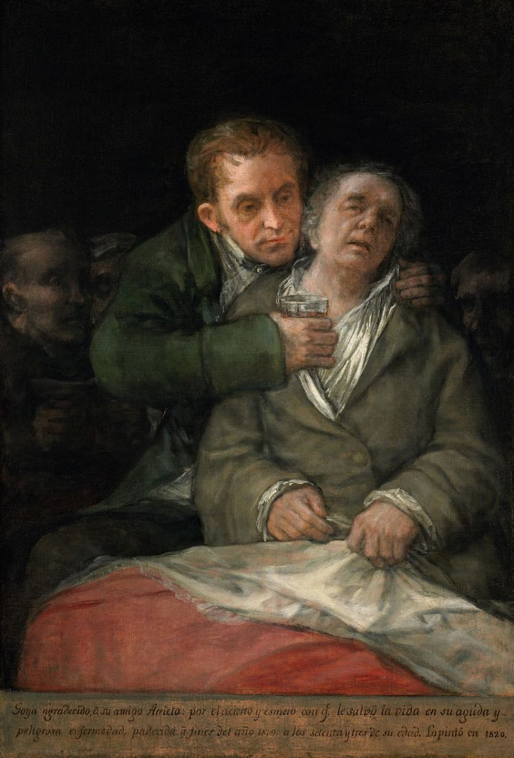 Francisco Goya, Self-portrait with Dr Arrieta