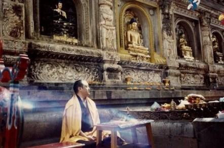 Shamar Rinpoche in Bodhgaya 1991
