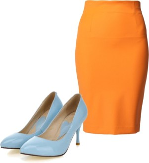 pantone color trend fashion spring 2013: nectarine and dusk blue