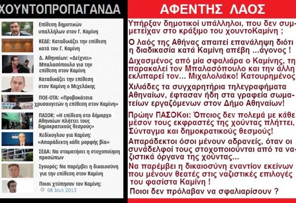 ΚΑΜΙΝΗΣ -ΣΦΑΛΙΑΡΕΣ -ΕΡΩΤΗΜΑΤΑ