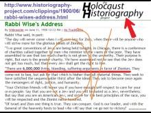 Έτσι ξεκίνησε ο Rabbi Wise (= σοφός Ραββίνος γαμώτο!!!!) το 1900 τη ταρίφα των 6.000.000 θυμάτων…. Εβραίων!!!….