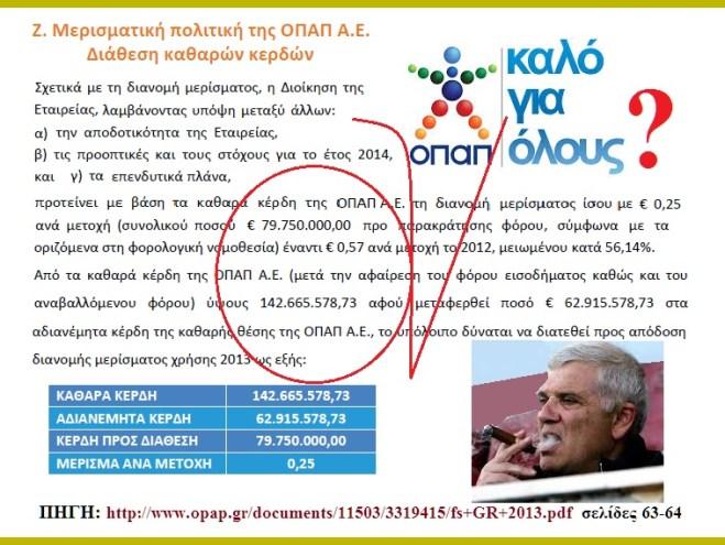 ΟΠΑΠ -ΚΕΡΔΗ -ΜΕΛΙΣΣΑΝΙΔΗΣ