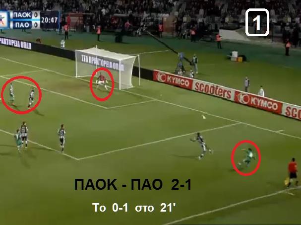 ΠΑΟΚ - ΠΑΟ 2-1  ΤΟ 0-1 ΣΤΟ 21
