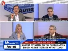 Το E-TV εξανάγκασε σε παραίτηση τον Νίκο Νικολόπουλο «στον αέρα», ασκόντας του υποδείξεις (ΒΙΝΤΕΟ)