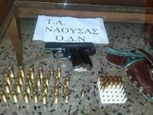 57χρονη Αλβανίδα, έκρυβε πιστόλι και σφαίρες στην αυλή του σπιτιού της, στον Πολυπλάτανο Ημαθίας.