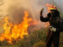 Πυρκαγιά σε εξέλιξη στις Στρόπωνες Ευβοίας.