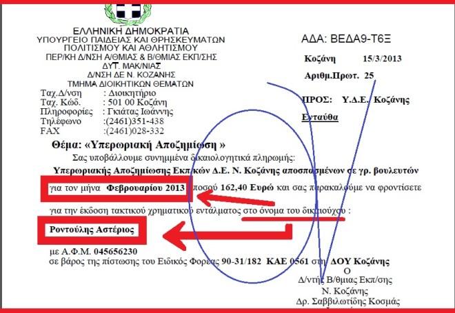 ΡΟΝΤΟΥΛΗΣ -ΥΠΕΡΩΡΙΕΣ 1