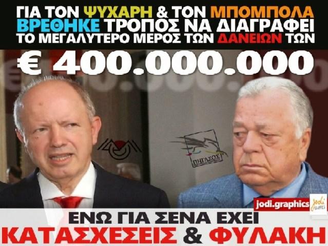 ΨΥΧΑΡΗΣ -ΜΠΟΜΠΟΛΑΣ -ΔΙΑΓΡΑΦΗ ΧΡΕΩΝ