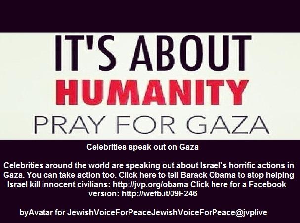 Celebrities speak out on Gaza