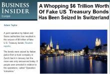 Τεράστιο σκάνδαλο με πλαστά ομόλογα του Αμερικάνικου δημοσίου στην Ελβετία — Ας βάλουν μυαλό οι κόπανοι με τη μετοχή της Τράπεζας της Ανατολής.