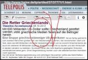 Και Γερμανικές ιστοσελίδες (και ΟΧΙ μόνον) ασχολήθηκαν με την απάτη των μαϊμουδομετοχών της Banque d΄Orient, των συμμοριών END και END.
