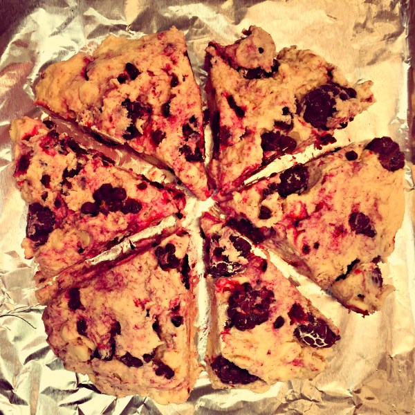 unbaked scones