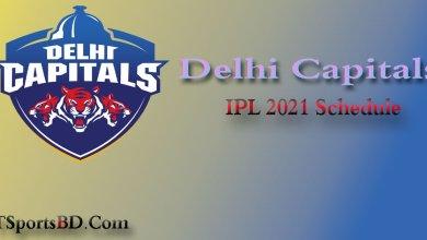 DC IPL Schedule 2021