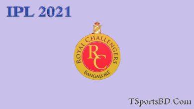 RCB Match Schedule 2021