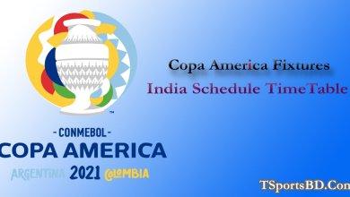 Copa America 2021 Match Fixture