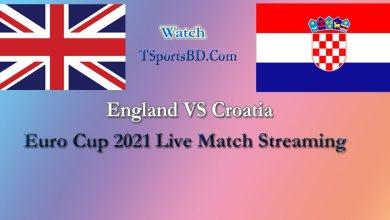 England VS Croatia Live Match