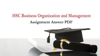 HSC Business Organization and Management Assignment Answer 2021 For 1st & 2nd Week