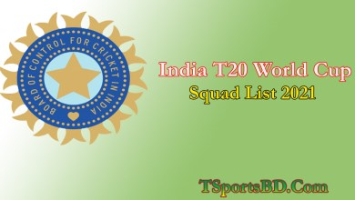 India T20 World Cup Squad 2021